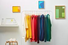 Vivid Clothing In Rainbow Row ...