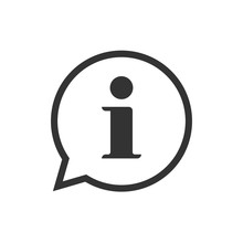 Info Help Sign Icon Vector Symbol, Line Outline Art Black And White Information Bubble Speech Mark Isolated Pictogram Image