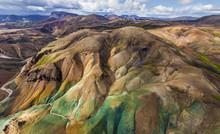 Aerial View Of The Fjallabak N...