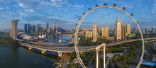 Aerial View Of The Singapore Flyer Observation Wheel, Malaysia.