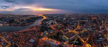 Panoramic Aerial View Of Porto...