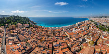 Panoramic Aerial View Of Nice City, France
