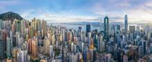 Aerial View Of Hong Kong Citys...