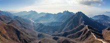 Panoramic Aerial View Of The Great Wall Of China