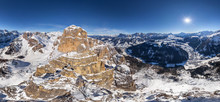Aerial View Of Dolomites Mount...