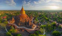 Aerial View Of Dhammayazika Pagoda. Bagan, Myanmar