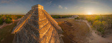 Aerial View Of The El Castillo...