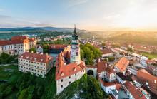 Aerial View Of Cesky Krumlov Castle