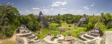 Aerial View Of Maya Pyramids, ...