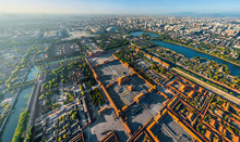 Aerial View Of The Forbidden City, Beijing, China.