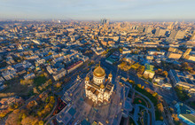 Aerial View Of The Cathedral Of Christ The Saviour, Moscow