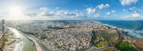 Panoramic aerial view of Rabat city, Morocco