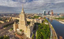 Aerial View Of Seven Sisters In Moscow, Russia
