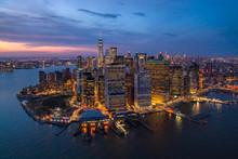 Aerial View Of Manhattan Durin...