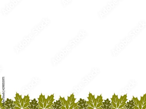 fototapeta na ścianę leaves border