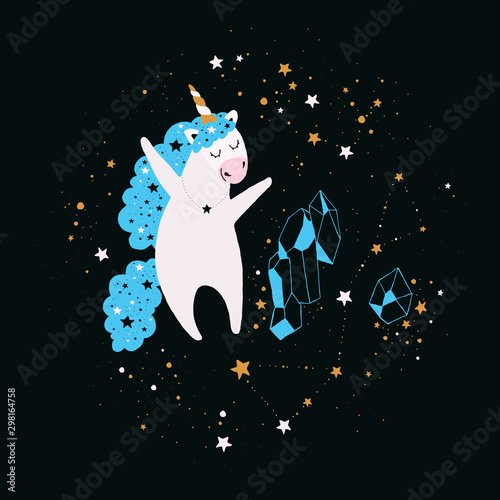 Aluminium Prints Submarine Stellar Unicorn Sticker
