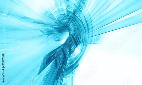 Fotografía  3D rendering of abstract technology concept background ready for presentation