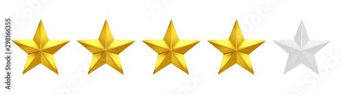 Obraz 4 out of 5 stars rating - fototapety do salonu