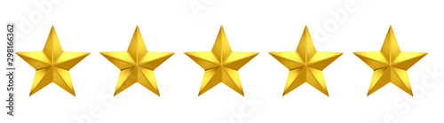5 out of 5 stars rating. Five golden stars Fototapete