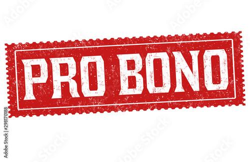 Fotografia  Pro bono sign or stamp