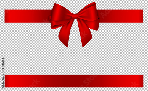 Pinturas sobre lienzo  red bow and ribbon for christmas and birthday decorations