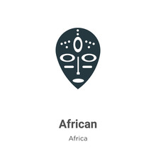 African Vector Icon On White B...