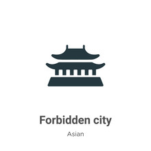 Forbidden City Vector Icon On White Background. Flat Vector Forbidden City Icon Symbol Sign From Modern Asian Collection For Mobile Concept And Web Apps Design.