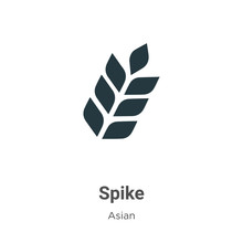 Spike Vector Icon On White Bac...