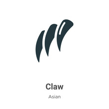 Claw Vector Icon On White Back...