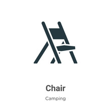 Chair Vector Icon On White Bac...