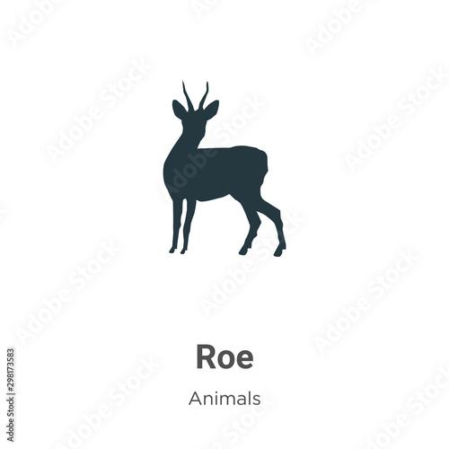 Fotografía Roe vector icon on white background