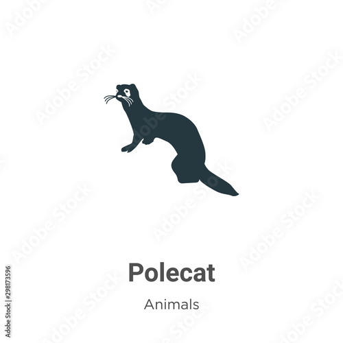 Vászonkép  Polecat vector icon on white background