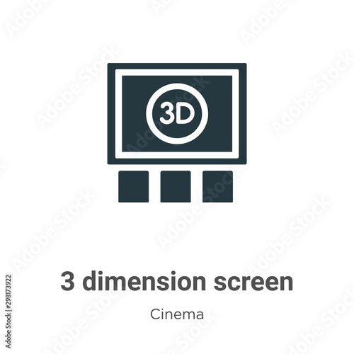 3 dimension screen vector icon on white background Canvas Print