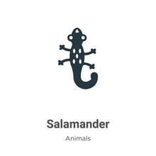 Salamander Vector Icon On White Background. Flat Vector Salamander Icon Symbol Sign From Modern Animals Collection For Mobile Concept And Web Apps Design.