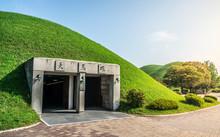 Cheonmachong Or Sky Horse Tomb Entrance In Daereungwon Tumuli Park Complex Gyeongju South Korea Translation : Sky Horse Tomb