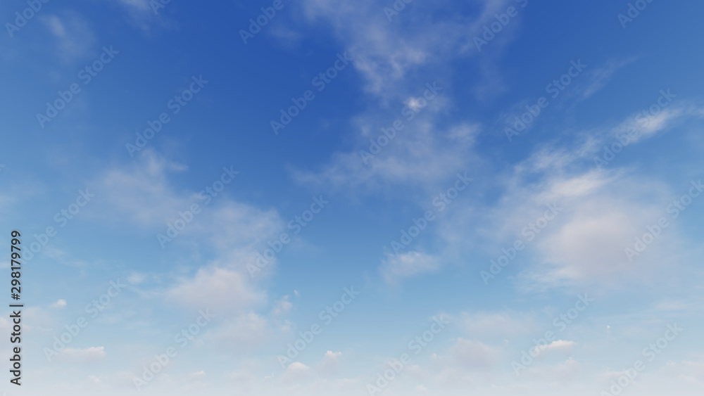 Fototapety, obrazy: Cloudy blue sky abstract background, blue sky background with tiny clouds