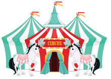 Circus Tent Isolated On White ...