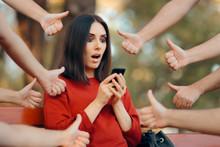 Woman Getting Appreciation On Her Social Media Posts