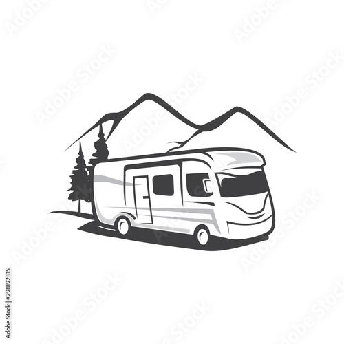 Photo RV Camp Logo, Caravan Logo, Camp Logo