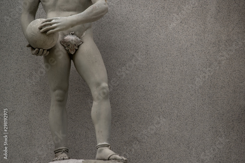 Photo sur Aluminium Ane The statue of David by italian artist Michelangelo.