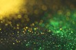 canvas print picture - Wallpaper phone shining glitter.New Year  Festive background. Gold and green glitter macro background with shining bokeh on a black background. Shining texture