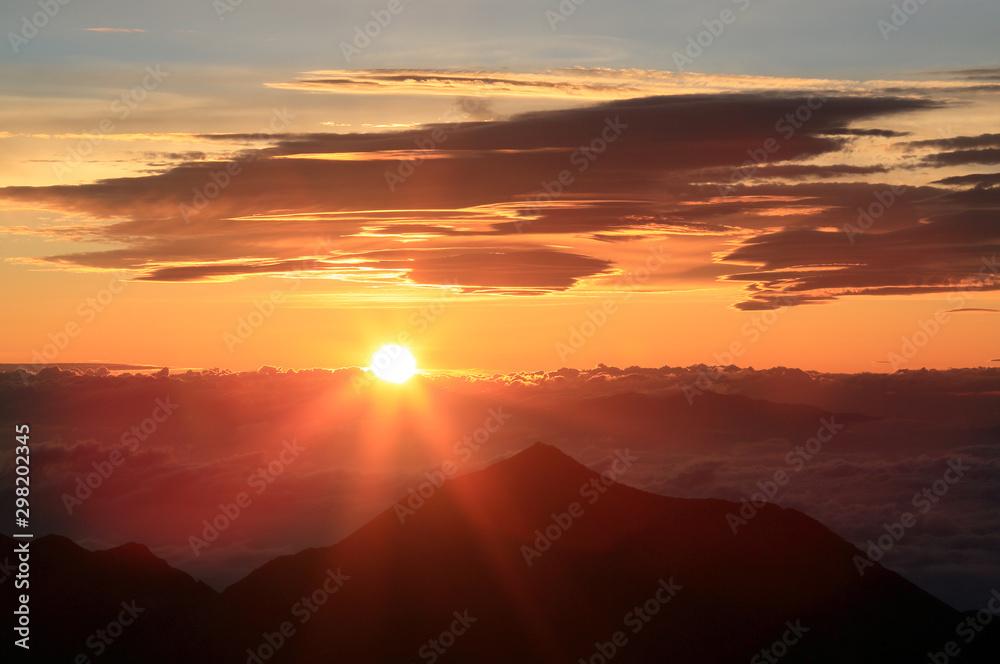 Fototapeta 涸沢岳より日の出