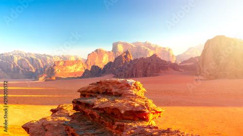 Wadi Rum - Desert by Sunrise Canvas Print