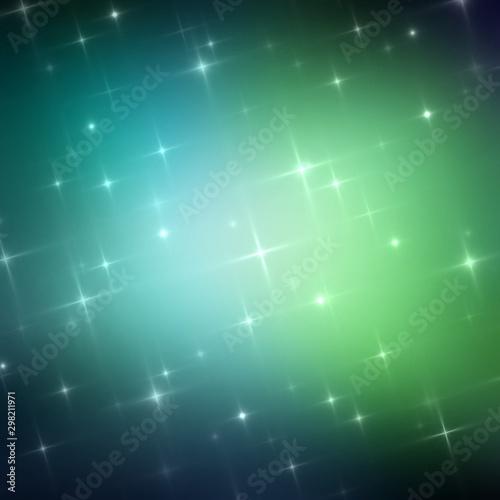 Stampa su Tela  Dark green mystery blurred background