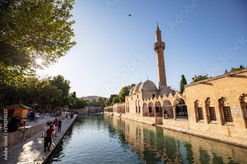 Photo Balikligol, Sanliurfa / Turkey. Balikligol Mosque ( Fish Lake )