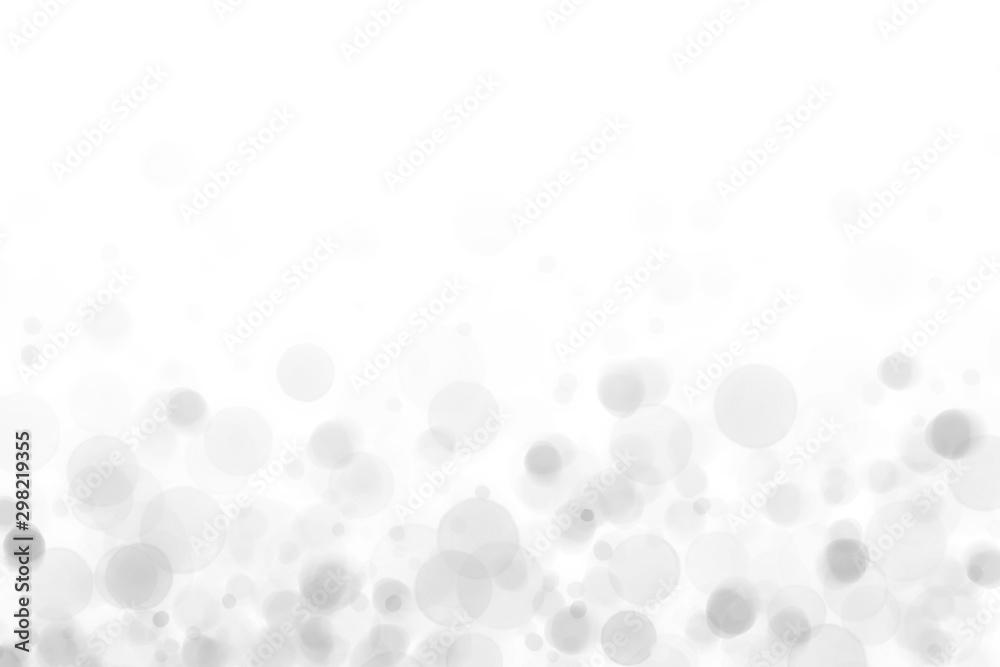 Fototapety, obrazy: 水玉の背景素材、ボケ、かすみ、グレー
