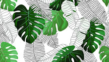 Floral Seamless Pattern, Green...