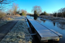 Frosty Morning Along The Canal