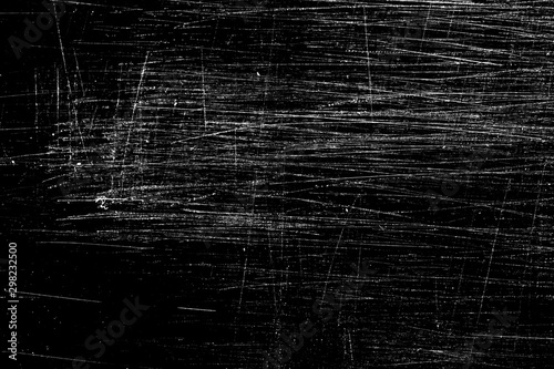 scratches isolated on black Tablou Canvas