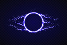 Electric Circle With Lightning Effect